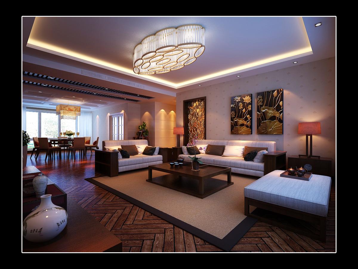 客厅图片来自日升装饰秋红在曲江诸子阶140平米简欧风格赏析的分享