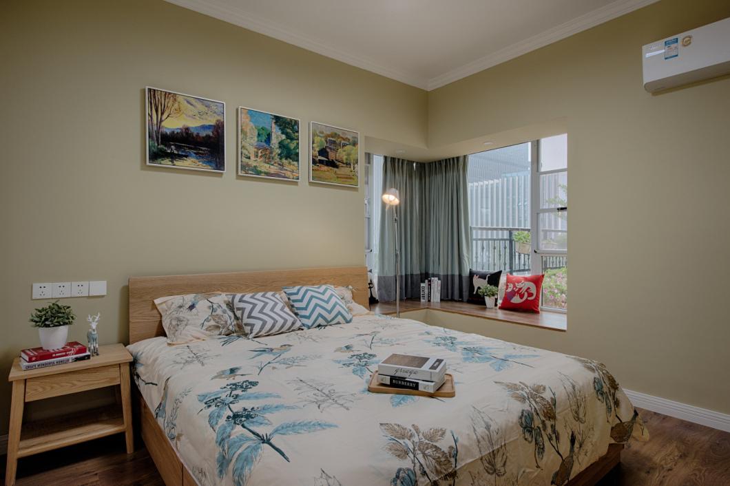 卧室图片来自爱尚易格装饰在爱尚易格森系,北欧装修效果图的分享