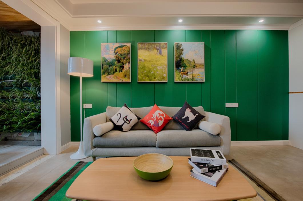 客厅图片来自爱尚易格装饰在爱尚易格森系,北欧装修效果图的分享