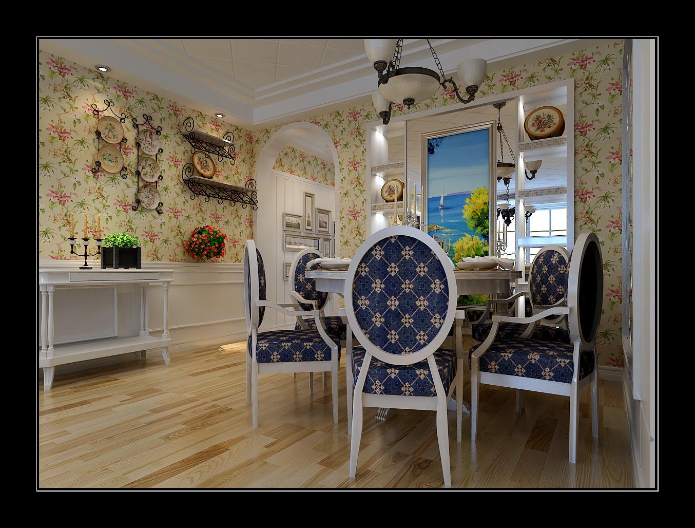 餐厅图片来自日升装饰秋红在西安金辉天鹅湾田园风格的分享