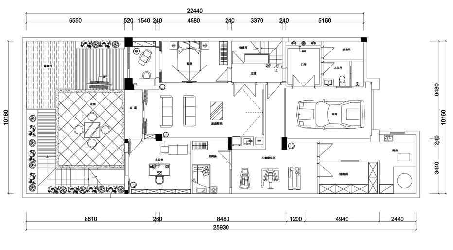 户型图图片来自爱尚易格装饰在爱尚易格美式豪宅设计的分享