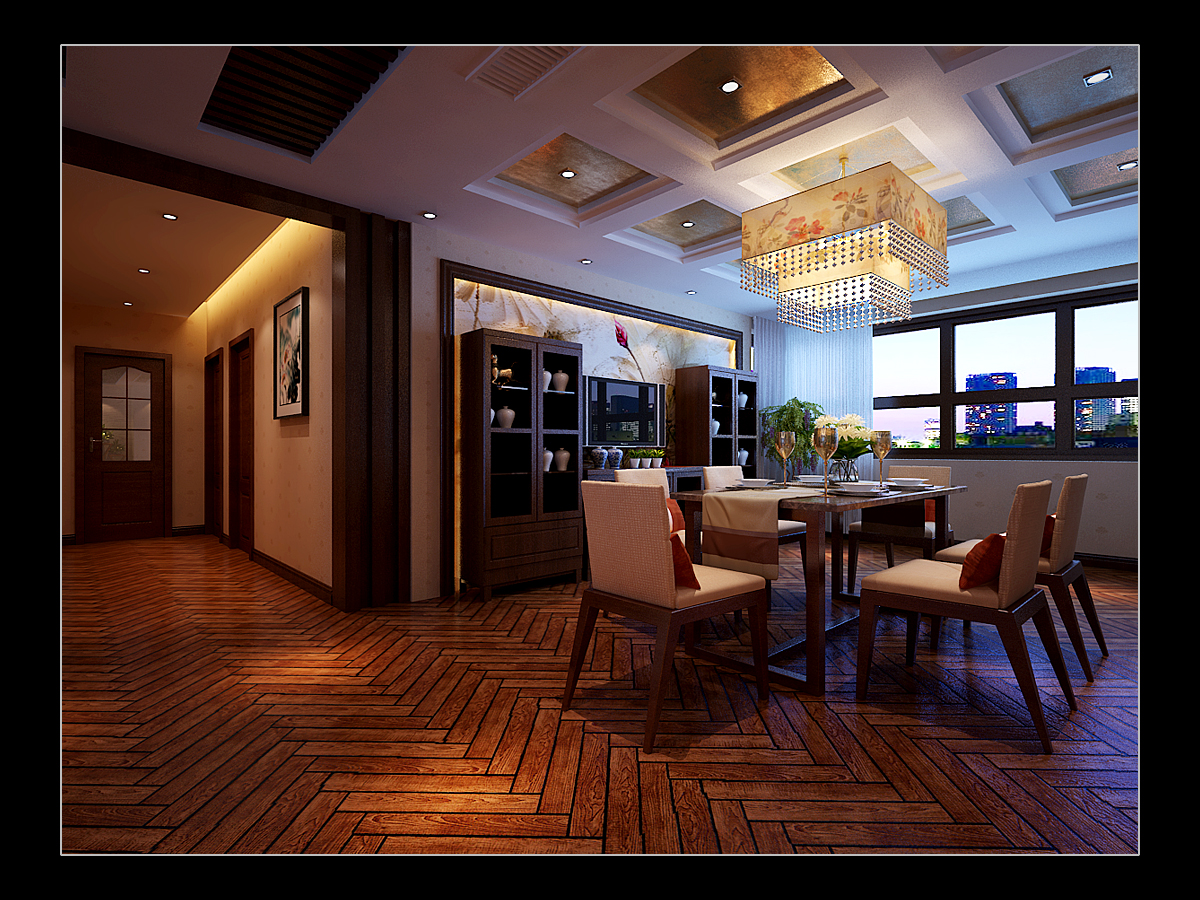 简约 欧式 田园 混搭 三居 别墅 白领 收纳 旧房改造 餐厅图片来自日升装饰秋红在曲江诸子阶140平米简欧风格赏析的分享