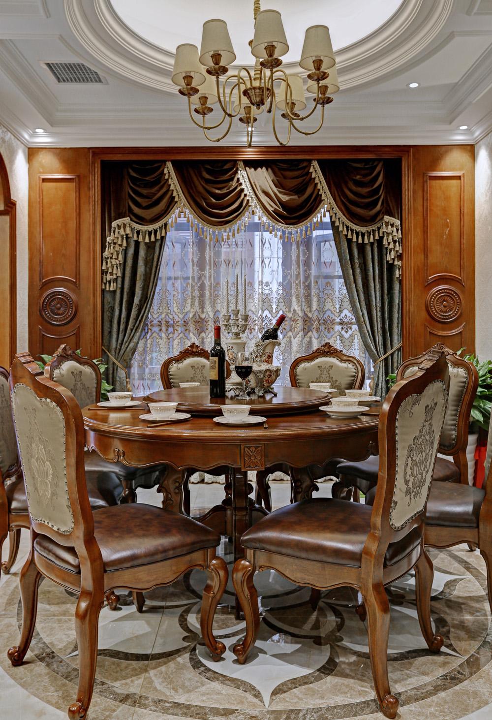 餐厅图片来自爱尚易格装饰在爱尚易格美式豪宅设计的分享