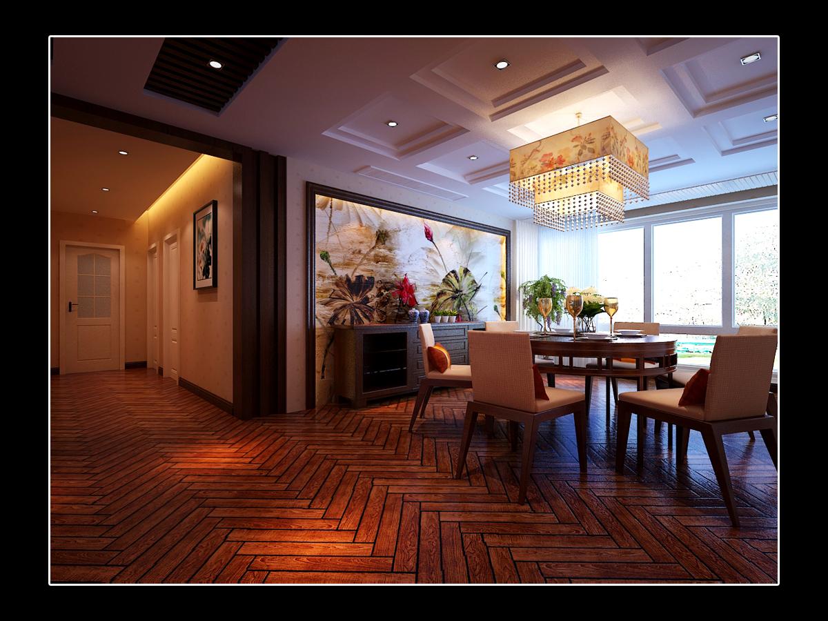 餐厅图片来自日升装饰秋红在曲江诸子阶140平米简欧风格赏析的分享