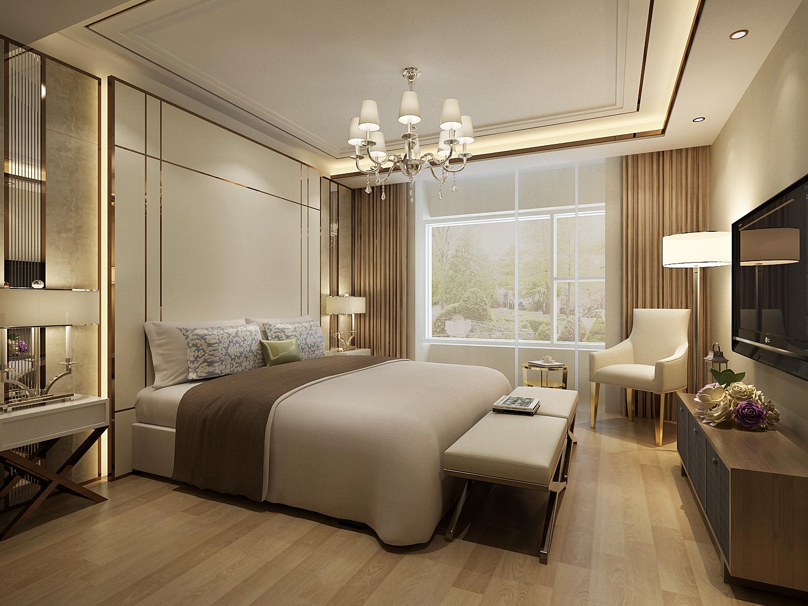 卧室图片来自北京业之峰装饰王宏哲在时尚奢华的后现代风格的分享