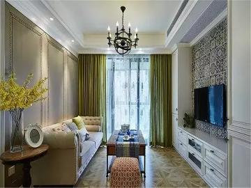 88平米美式两居室紫罗兰般的浪漫