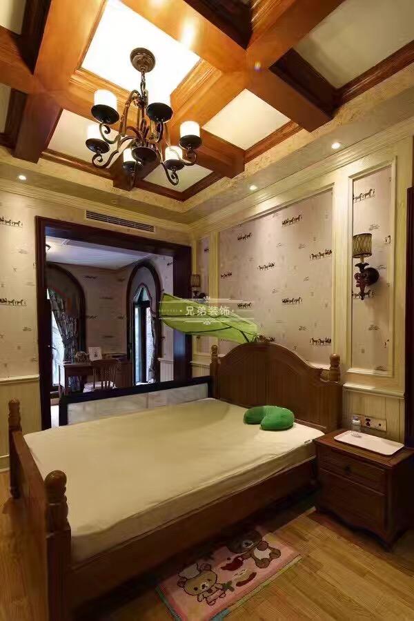 北麓官邸 别墅装修 美式风格 卧室图片来自兄弟装饰-蒋林明在重庆北麓官邸装修案例的分享