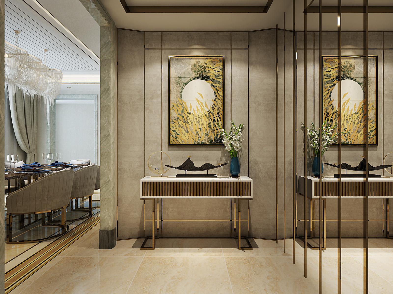 玄关图片来自北京业之峰装饰王宏哲在时尚奢华的后现代风格的分享
