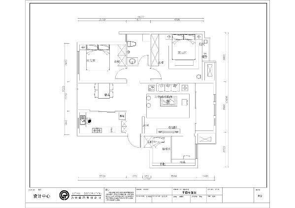 入户我们的正前方,左边是一个厨房和餐厅的设计,再往前是整个空间的视觉中心客厅,与客厅相邻的是主卧,与次卧相邻的是卫生间,与书房相邻的是客厅的设计。洗手间的右边是主卧,主卧又与客厅相邻