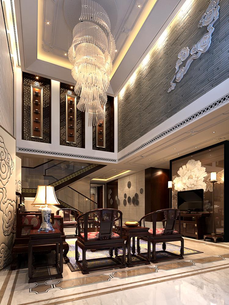 别墅 中式 客厅图片来自tjsczs88在清雅中国风的分享