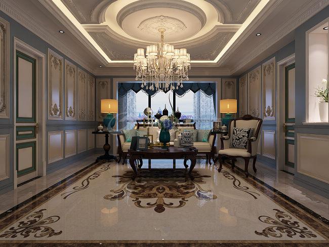 欧式 复式 高档装修 别墅 西安装修 客厅图片来自西安城市人家装饰王凯在300㎡欧式大宅,就是这个范儿的分享