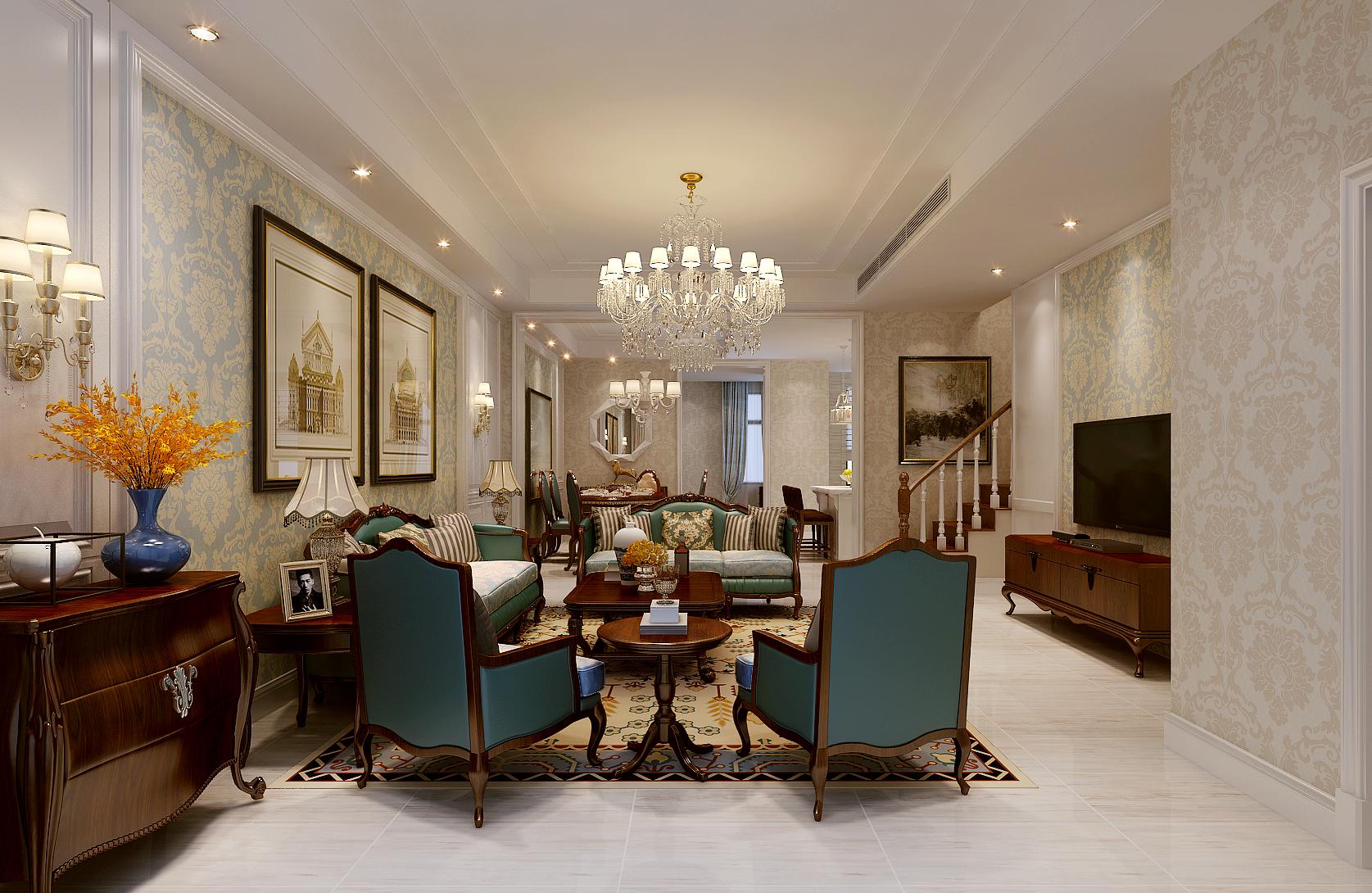 客厅图片来自北京业之峰装饰王宏哲在美式慢生活的分享