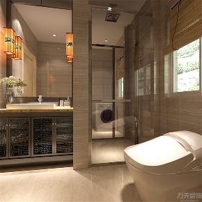 中式 三居 收纳 小资 卫生间图片来自阳光力天装饰在力天装饰-天房天拖-135㎡-中式的分享