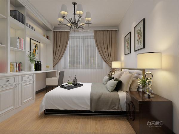 卧室没有什么特殊的设置采用简单灰白的色调使卧室简单大方温馨