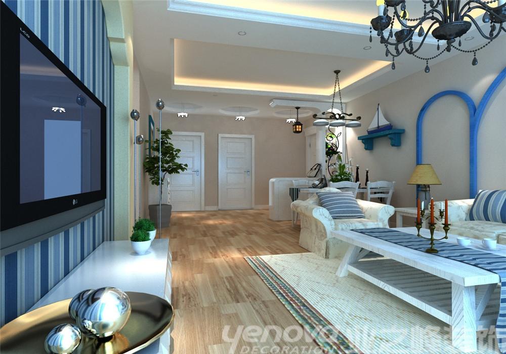 地中海 三居 白领 客厅图片来自青岛业之峰官方客服--小万在和达城上城 145平 地中海风格的分享