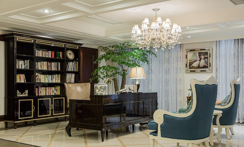 书房图片来自家装大管家在恢宏气势 190平浪漫法式温馨复式的分享