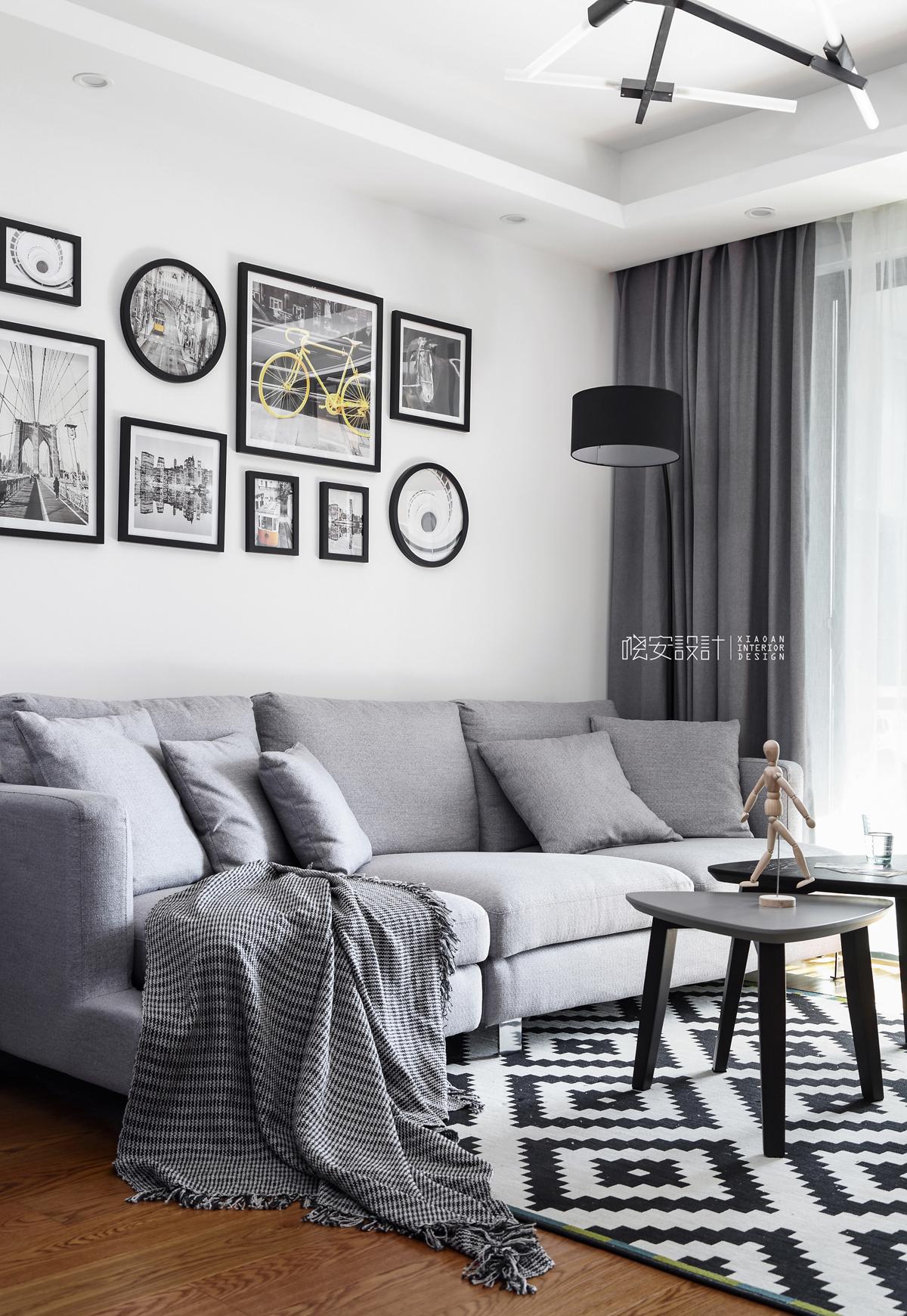 二居 白领 收纳 小资 客厅图片来自周晓安在晓安设计   灰度空间   北欧的分享