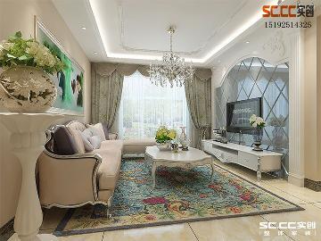 中欧国际城89平C户型二居室欧式