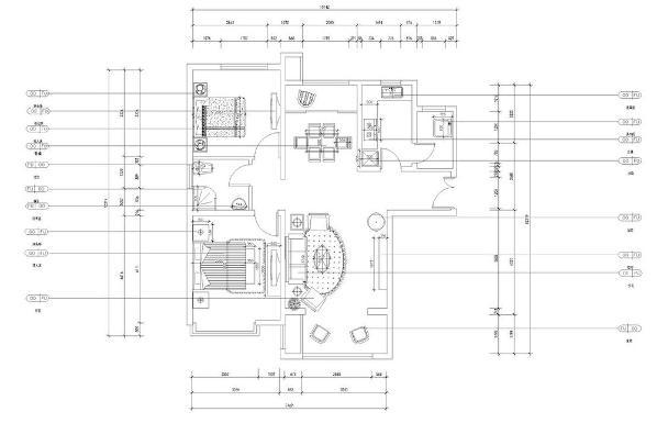 从入户门进入右边就是厨房和一个多功能空间,再往前走就是客餐厅,客厅空间较大,还有一个较大的阳台,厨房在客厅的对面,一个推拉门隔出了一间厨房阳台,有更多的活动空间,让客餐厅采光好,通风佳。