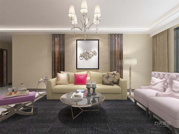 客厅作为待客区域,要明快光鲜,用比较亮的地砖,使整体上有一种宽敞而富有时尚气息。墙面顶面采用上下两种颜色,这样使视觉上具有层次感,色彩也更加丰富。