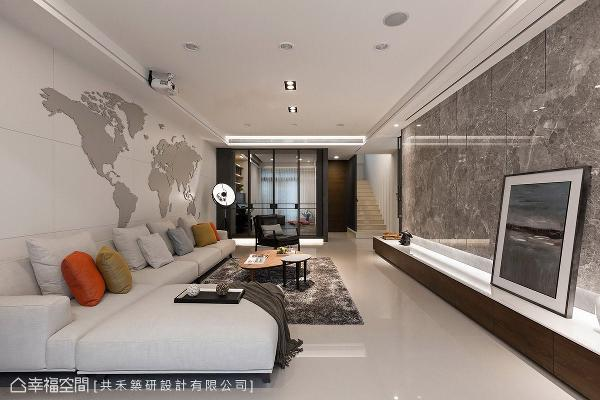 纯净的白色铺陈空间基底,藉由材质、线条、家具及软件的搭配,堆栈精彩的场域表情。