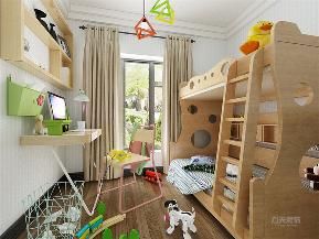 新中式 中式 三居 收纳 小资 儿童房图片来自阳光力天装饰在力天装饰- 半湾半岛-125㎡的分享