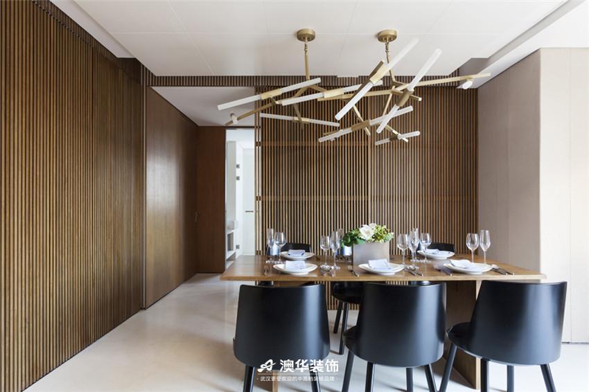 餐厅图片来自澳华装饰有限公司在武汉天街·现代摩登再现绅士品格的分享