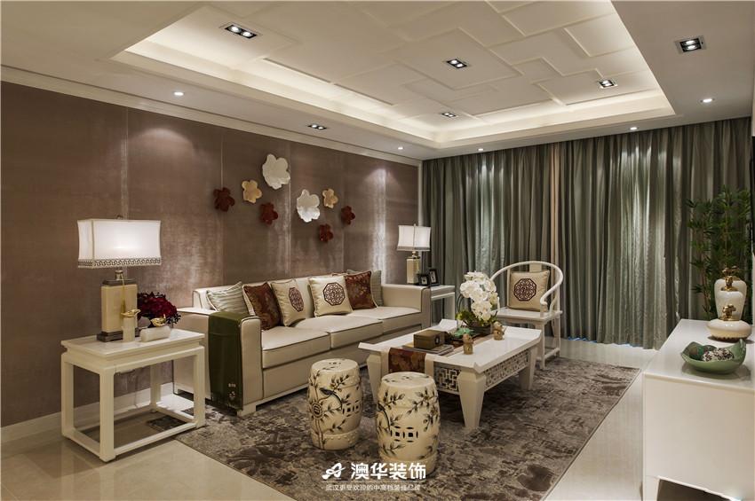客厅图片来自澳华装饰有限公司在海赋江城·现代中式,东方雅韵的分享