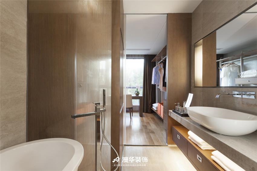 卫生间图片来自澳华装饰有限公司在武汉天街·现代摩登再现绅士品格的分享