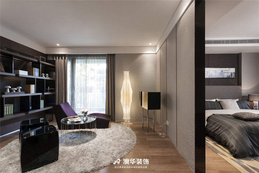 书房图片来自澳华装饰有限公司在武汉天街·现代摩登再现绅士品格的分享