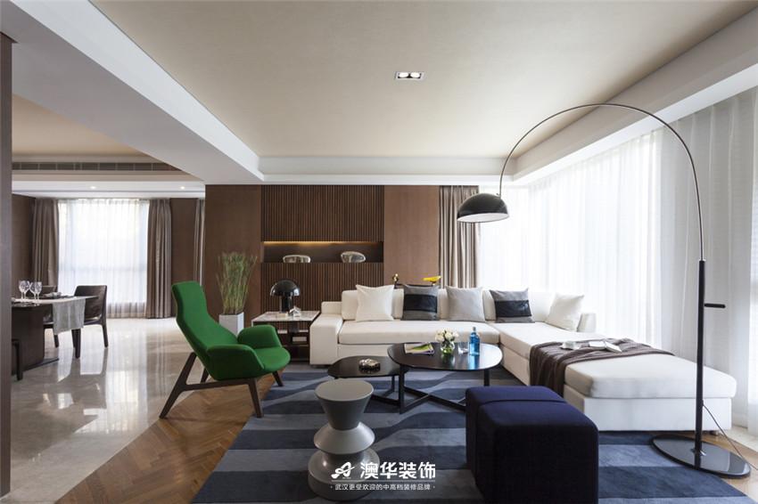 客厅图片来自澳华装饰有限公司在武汉天街·现代摩登再现绅士品格的分享