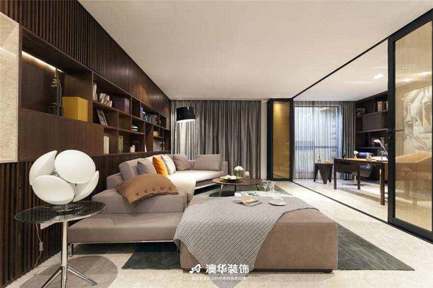 卧室图片来自澳华装饰有限公司在武汉天街·现代摩登再现绅士品格的分享