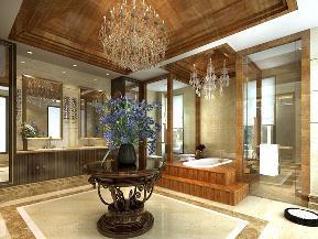 别墅 白领 收纳 中式 时尚 卫生间图片来自tjsczs88在素雅新中式的分享