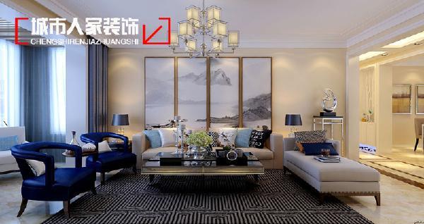 客厅:亮色让整个家顿时有了活力