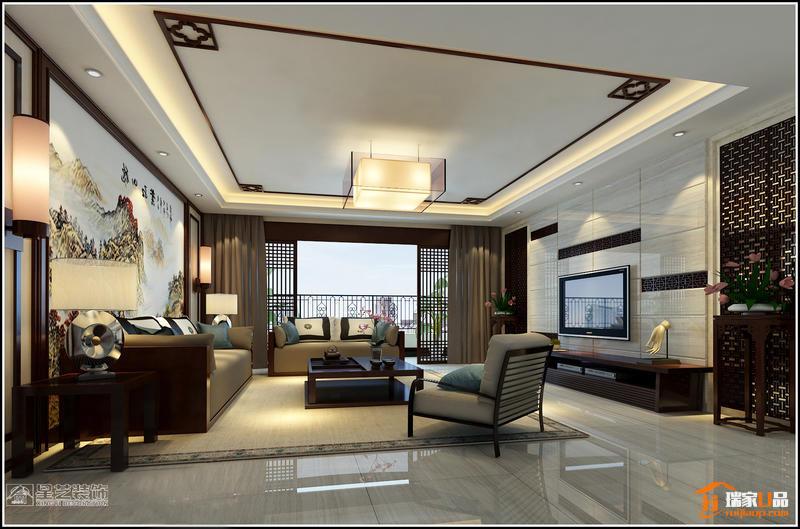 新中式 瑞家U品 星艺装饰图片来自瑞家U品_在美的林城146㎡新中式装修案例的分享