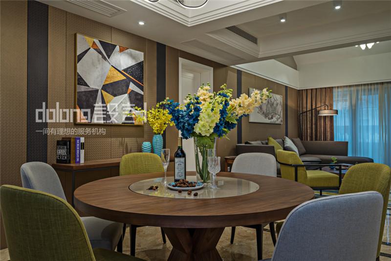 简约 三居 餐厅图片来自DoLong董龙设计在法兰谷装修实景《眷秋》的分享