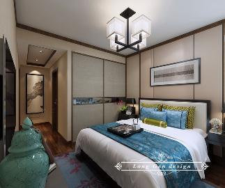 金泽人才公寓123平中式装修