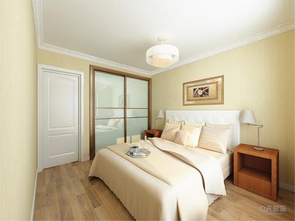 卧室没有什么特殊的设置。卧室位置颜色,统一客餐厅颜色。