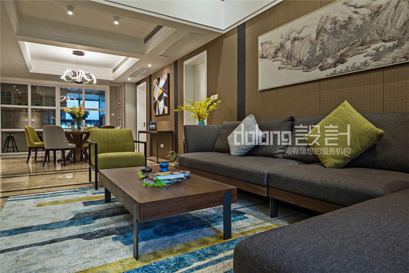 简约 三居 客厅图片来自DoLong董龙设计在法兰谷装修实景《眷秋》的分享