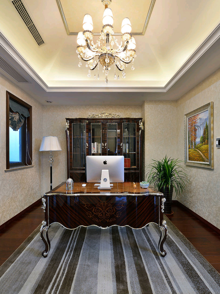 别墅 白领 收纳 旧房改造 新古典 书房图片来自tjsczs88在古典家园的分享