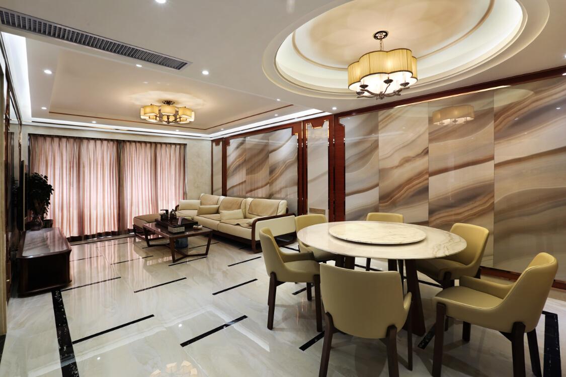 时尚 中式 品味 奢华 多居室 客厅图片来自沐  熙在诗意东方的分享