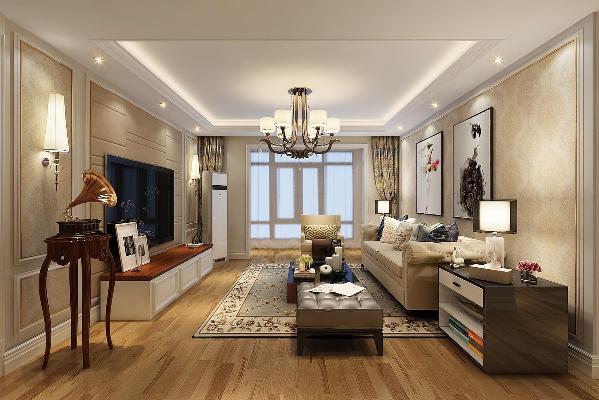 根据原户型中的客厅空间不规整,让人觉得空间感不舒服。故将客厅做了重新规划,在原先突出的墙体和对面墙加一个垭口形成呼应。