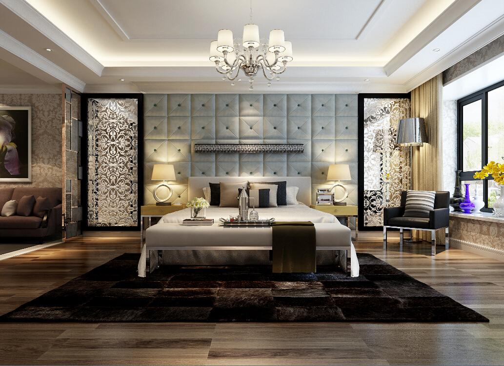 欧式 混搭 复式 卧室图片来自沐  熙在400平方复式的分享