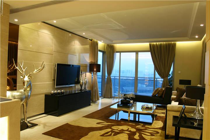 客厅图片来自广州九艺(三星)装饰设计在金域蓝湾邓生雅居的分享