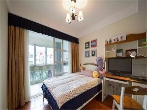 简美 美式 二居 白领 收纳 小资 儿童房图片来自沙漠雪雨在90平米温馨简美两居室的分享