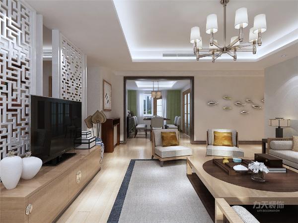 客厅作为待客区域,要明快光鲜,用暖色瓷砖,使整体上有一种宽敞而富有现代时尚气息。墙面顶面采用乳胶漆,这样使视觉上具有层次感,色彩也更加温馨舒适。