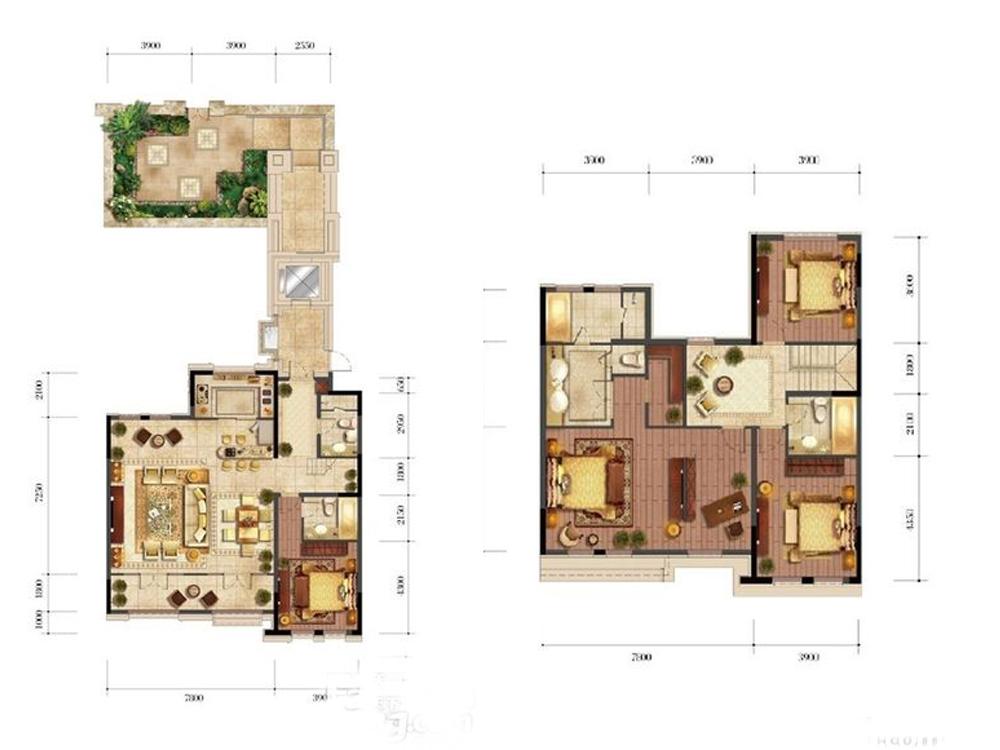 别墅 白领 旧房改造 小资 中式 奢华 户型图图片来自tjsczs88在古韵美的分享