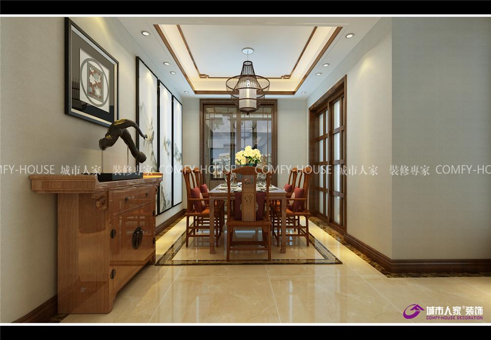 梵尔赛公馆 装修效果图图片来自济南城市人家装修公司-在梵尔赛公馆装修效果图中式风格的分享
