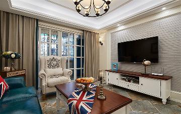 8.8万打造轻美式风格 92平三居室