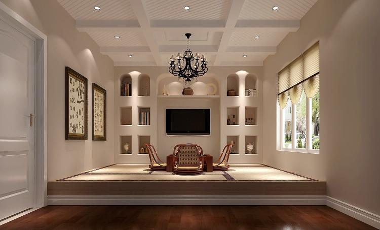 简约 三居 小资 客厅 卧室图片来自北京高度国际装饰在潮白河孔雀城190平简约的分享